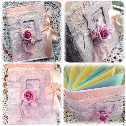"""Блокноты ручной работы. Ярмарка Мастеров - ручная работа. Купить Блокнот ручной работы """"Розовые мечты"""". Handmade. Разноцветный, розовый"""