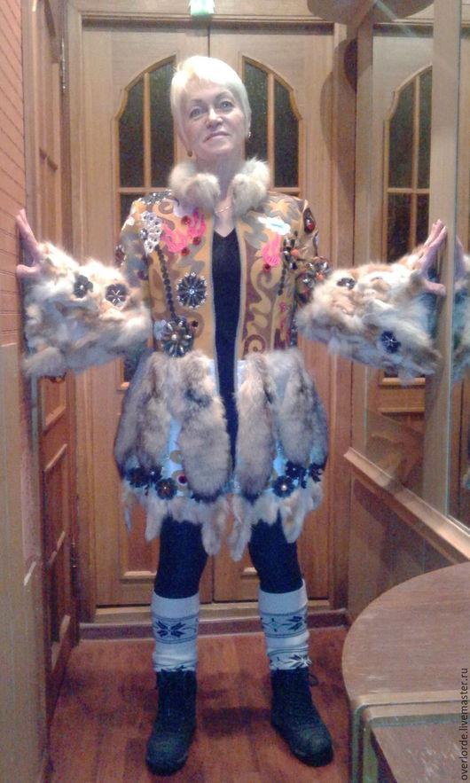 """Верхняя одежда ручной работы. Ярмарка Мастеров - ручная работа. Купить шубка пальто жакет """"Авторская во всём"""""""". Handmade."""