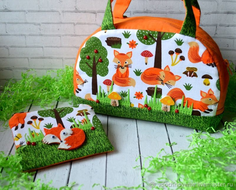 Purse and purse 'Chanterelles', Bags for children, Kolomna,  Фото №1