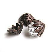 Материалы для творчества handmade. Livemaster - original item Cap beads Copper. Handmade.