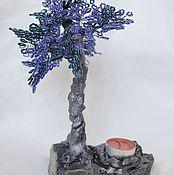Подсвечники ручной работы. Ярмарка Мастеров - ручная работа Бисерное дерево-подсвечник. Handmade.