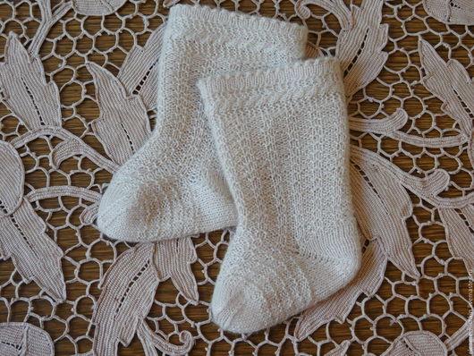 Одежда для кукол ручной работы. Ярмарка Мастеров - ручная работа. Купить носочки для винтажной (антикварной куклы). Handmade. Бледно-розовый