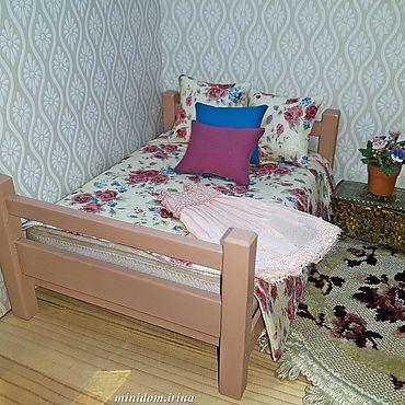 Dolls & toys handmade. Livemaster - original item Bedroom for Dollhouse furniture for dolls. Handmade.