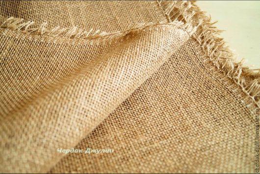 Шитье ручной работы. Ярмарка Мастеров - ручная работа. Купить Супер мешковина, натуральная, декоративная средней плотности. Handmade. Бежевый
