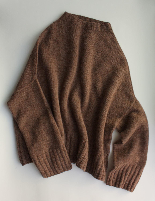 Oversized knitted sweater 'Yoko' soft wool, Sweaters, Saratov,  Фото №1