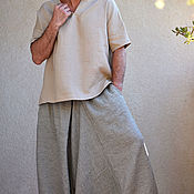 Одежда ручной работы. Ярмарка Мастеров - ручная работа Алладины для мужчин с карманами полосатые. Handmade.