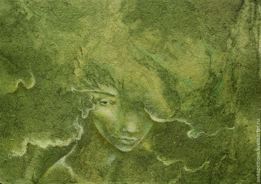 Картина Лесная. Дриада. Лесные эльфы.