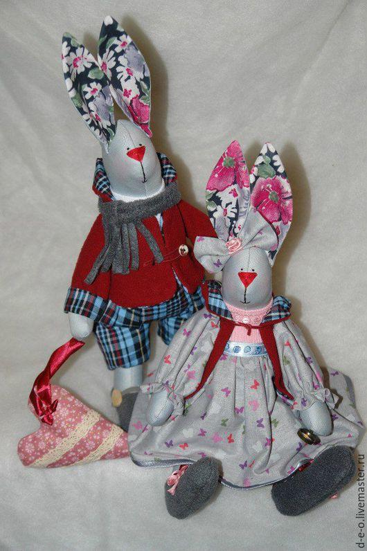 Куклы Тильды ручной работы. Ярмарка Мастеров - ручная работа. Купить Семейка зайцев. Handmade. Комбинированный, семья зайцев