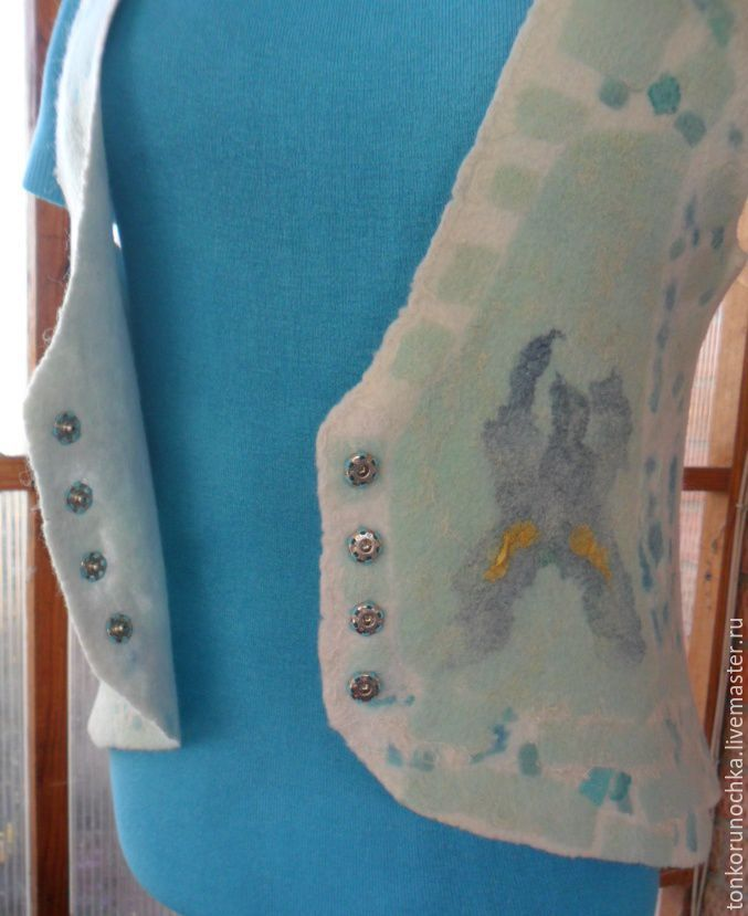 Felted vest 'Lake irises', Vests, Yeisk,  Фото №1