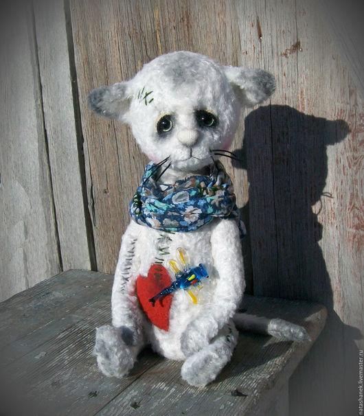 Мишки Тедди ручной работы. Ярмарка Мастеров - ручная работа. Купить Таисья. котенок тедди котик тедди. Handmade. Белый