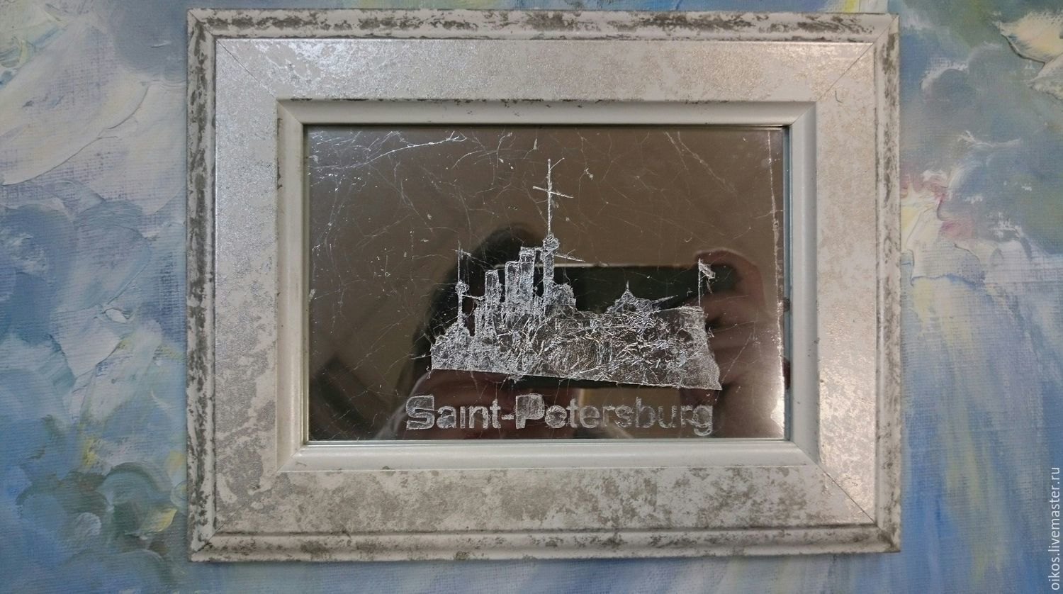 A souvenir from the cruiser Aurora bulk buy in SPb painting on glass, Figurine, St. Petersburg,  Фото №1