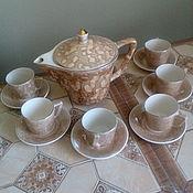Винтаж handmade. Livemaster - original item Vintage coffee sets: handmade coffee set Riga. Handmade.