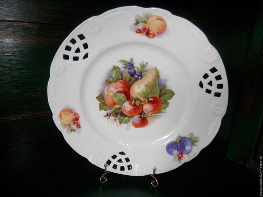 Винтажная посуда. Ярмарка Мастеров - ручная работа. Купить Сервировочная  тарелка Фрукты. Handmade. Тарелка, изысканность, фрукты