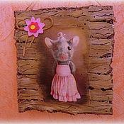 Картины и панно ручной работы. Ярмарка Мастеров - ручная работа Панно с мышкой. Handmade.
