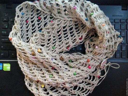 Шарфы и шарфики ручной работы. Ярмарка Мастеров - ручная работа. Купить Снуд летний. Handmade. Снуд, снуд женский