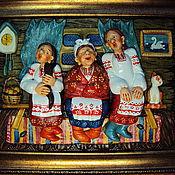"""Картины и панно ручной работы. Ярмарка Мастеров - ручная работа """"Посиделки"""". Handmade."""