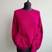 Одежда handmade. Livemaster - original item Fuchsia Angora Blouse. Handmade.