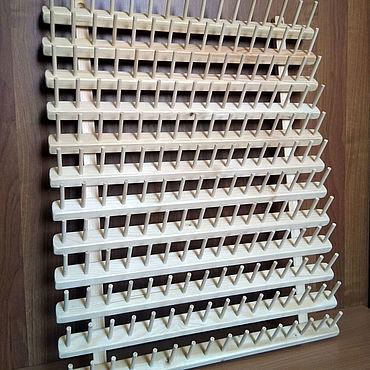 Материалы для творчества ручной работы. Ярмарка Мастеров - ручная работа Подставка-стенд для ниток, (диам. ДО 3 см) 192 места (mini). Handmade.