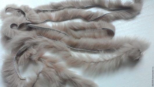Аппликации, вставки, отделка ручной работы. Ярмарка Мастеров - ручная работа. Купить Меховая нить из меха кролика рекс. Handmade.