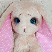 Куклы и игрушки ручной работы. Ярмарка Мастеров - ручная работа Большая голубоглазая зайка. Handmade.