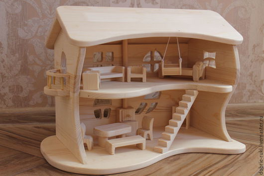 Кукольный дом ручной работы. Ярмарка Мастеров - ручная работа. Купить Двухэтажный кукольный домик. Handmade. Кукольный домик