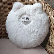 Для дома и интерьера handmade. Livemaster - original item Round, fluffy cat pillow. Handmade.