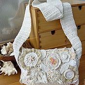 Сумки и аксессуары handmade. Livemaster - original item Crossbody bag: Summer decorations in the style boho. Handmade.