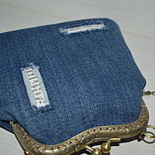 Сумки и аксессуары handmade. Livemaster - original item Small denim purse clasp. Handmade.
