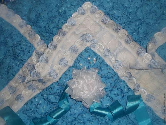 Для новорожденных, ручной работы. Ярмарка Мастеров - ручная работа. Купить Одеяло для новорожденных. Handmade. Одеяло на выписку, зефир