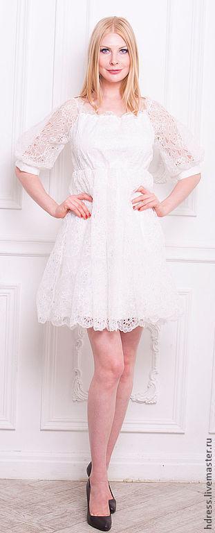 """Платья ручной работы. Ярмарка Мастеров - ручная работа. Купить Платье """"Воздушные кружева"""". Handmade. Белый, белое платье"""
