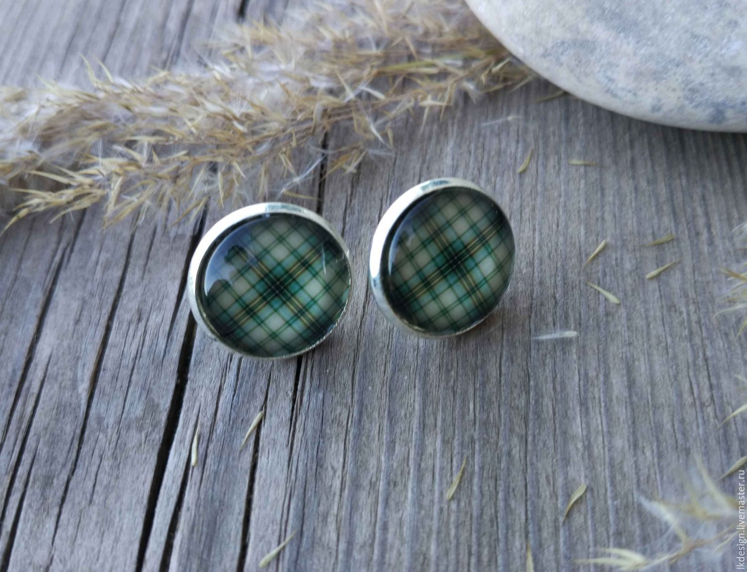 Earrings silver plated Cage green, Earrings, Moscow,  Фото №1