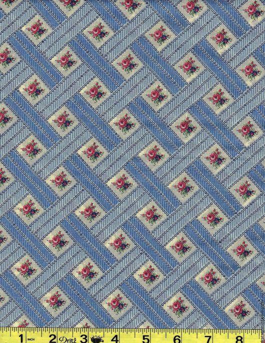 Шитье ручной работы. Ярмарка Мастеров - ручная работа. Купить 1316 Американская ткань. Handmade. Голубой, ткань с рисунком, ткань