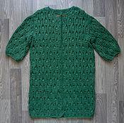Одежда ручной работы. Ярмарка Мастеров - ручная работа Пальто летнее зеленое. Handmade.