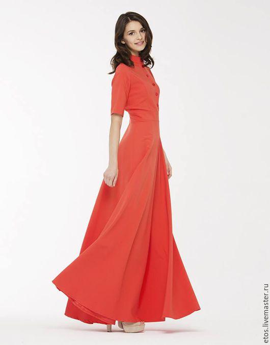Платья ручной работы. Ярмарка Мастеров - ручная работа. Купить Платье на лето. Handmade. Рыжий, платье для девочки, сатин премиум