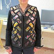 Одежда ручной работы. Ярмарка Мастеров - ручная работа лоскутный жилет. Handmade.