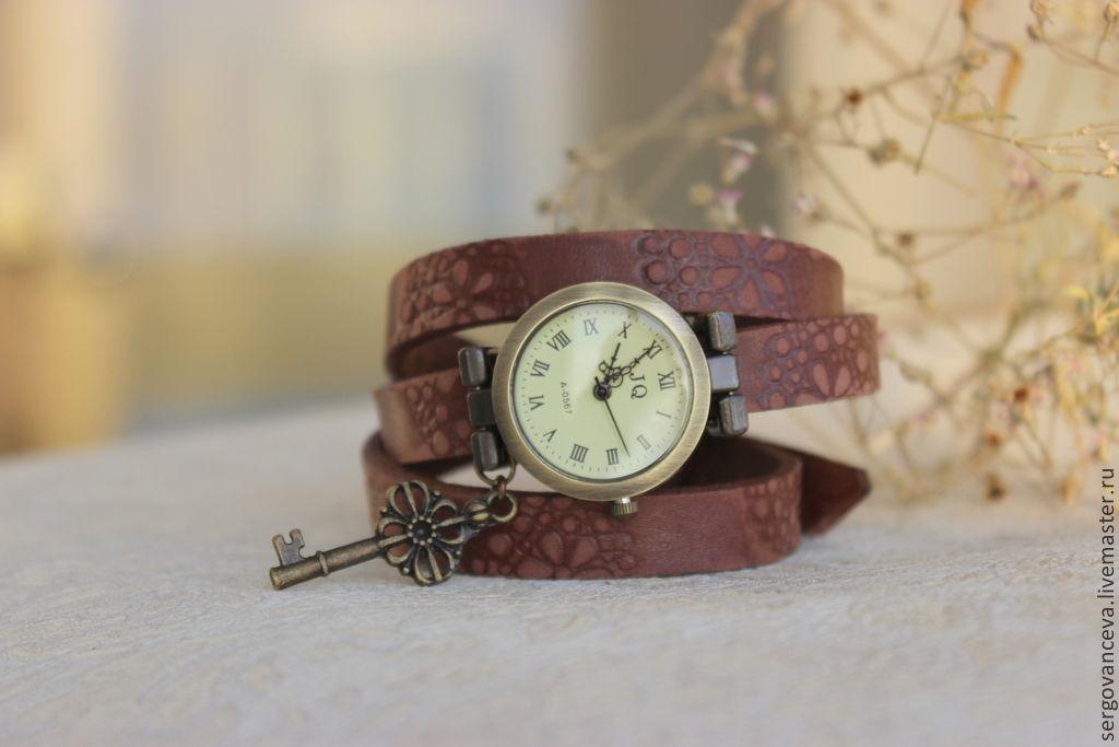 Часы на кожаном ремне купить в интернет магазин наручных часов из аксессуары