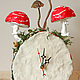 Часы для дома ручной работы. Лесные часы. Art des objets. Ярмарка Мастеров. Настольные часы, дерево