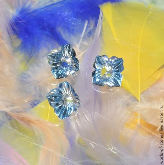 """Для украшений ручной работы. Ярмарка Мастеров - ручная работа. Купить Топаз голубой """"Цветок"""" 14,5. Handmade. Голубой"""