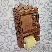 Для дома и интерьера handmade. Livemaster - original item Wall mounted toilet paper holder. Handmade.