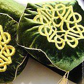 Для дома и интерьера ручной работы. Ярмарка Мастеров - ручная работа Диванная подушечка - Золотое шитье. Handmade.