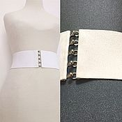 Аксессуары handmade. Livemaster - original item belts-bands of shades of white from pure white to dark white, h-different. Handmade.
