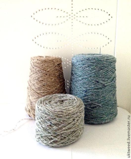 Вязание ручной работы. Ярмарка Мастеров - ручная работа. Купить Soft Donegal Tweed -100% меринос. Handmade. Голубой