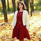 Одежда ручной работы. Ярмарка Мастеров - ручная работа Вязание платье твидовое. Handmade.