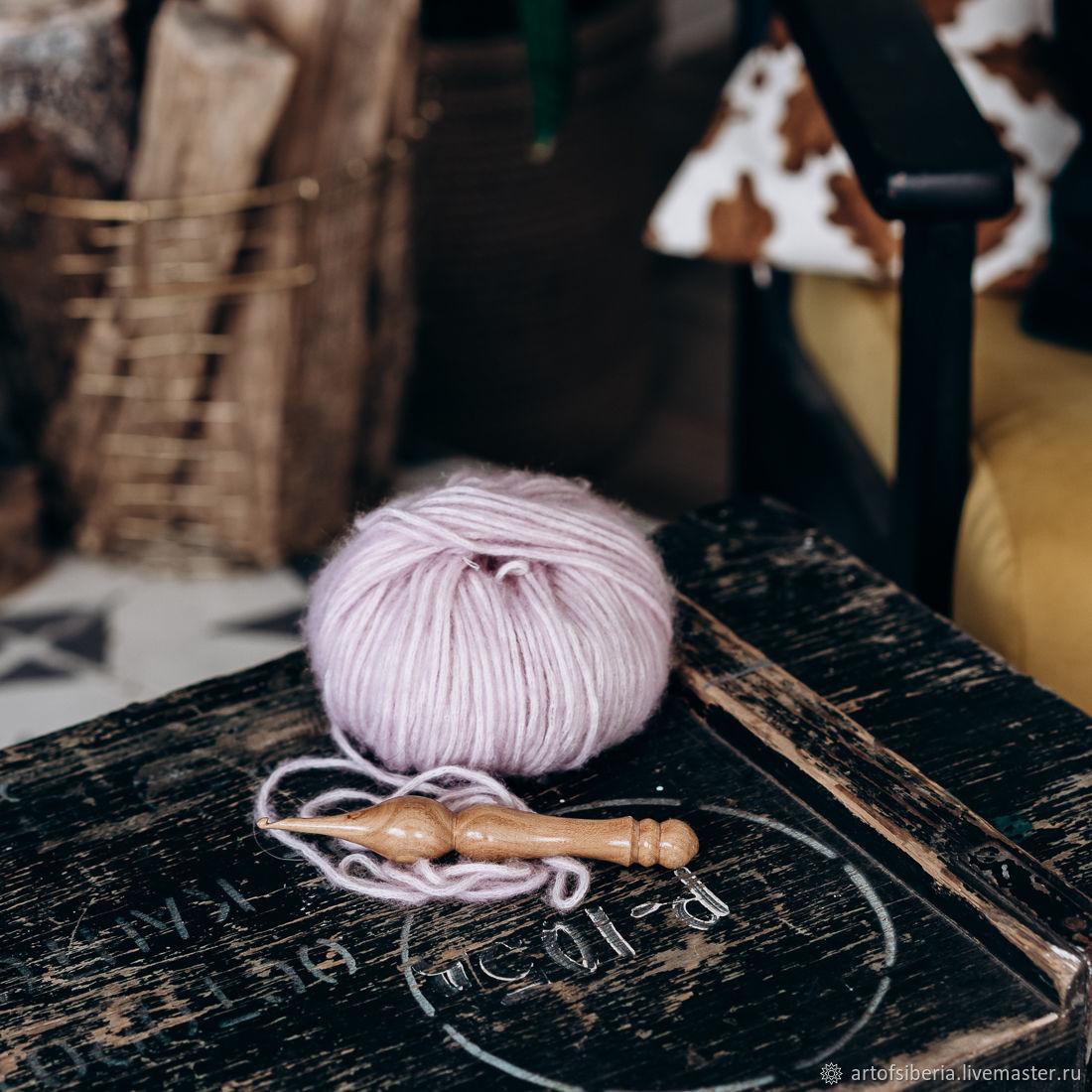 Wooden crochet hook 4mm (elm) crochet hooks K159, Crochet Hooks, Novokuznetsk,  Фото №1