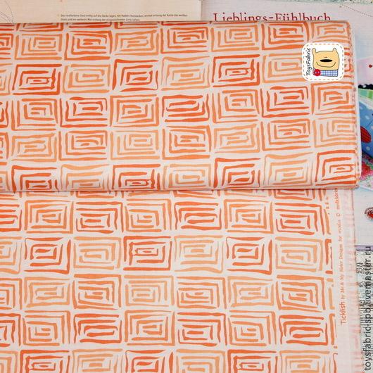 Шитье ручной работы. Ярмарка Мастеров - ручная работа. Купить Американский хлопок  Оранжевая геометрия (20178) ткань для пэчворка. Handmade.