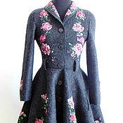 Одежда handmade. Livemaster - original item Coat with silk roses. Handmade.