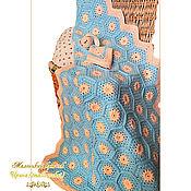 Для дома и интерьера ручной работы. Ярмарка Мастеров - ручная работа Плед детский и зайка-засыпайка вязаный крючком. Handmade.