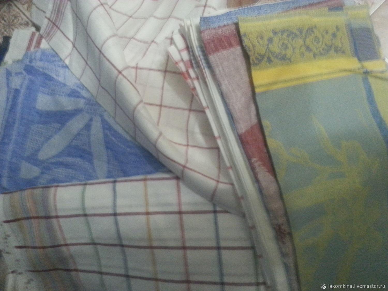 Остатки кроя льняных полотенец, Ткани, Кострома,  Фото №1
