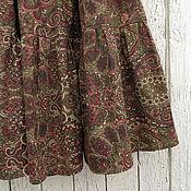 Одежда ручной работы. Ярмарка Мастеров - ручная работа Юбка ярусная с узорами. Handmade.