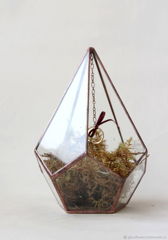 Подарки для влюбленных ручной работы. Ярмарка Мастеров - ручная работа. Купить Геометрический флорариум для подарка. Медь. Подарок для влюбленных. Handmade.